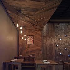sensational minimalist restaurant design rustic wooden