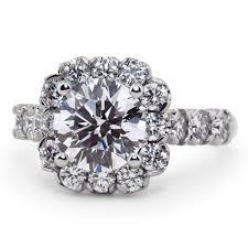 scalloped engagement ring custom scalloped edge halo ring brilliant earth