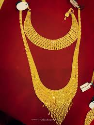 bridal necklace set gold images Gold bridal jewellery choker long necklace gold jewellery jpg