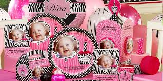personalized party supplies zebra print 1st birthday personalized party supplies kids