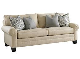 Curved Arm Sofa by Fabric Upholstery Sofas Sleeper Lexington Home Brands
