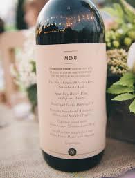 idã e mariage les menus sur les bouteilles de vins menu mariage menus et