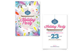 invitation flyer template holiday party invitation flyer template