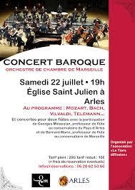 orchestre de chambre de marseille concert baroque de l orchestre de chambre de marseille à arles