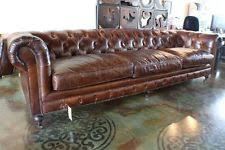 Chesterfield Tufted Leather Sofa 118 L Sofa Brown Cigar Vintage Italian Soft Leather Classic