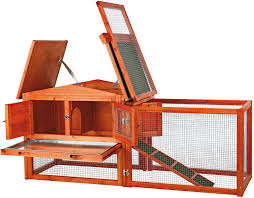 Rabbit Hutch With Detachable Run Trixie Small Animal Hutch With Outdoor Run X Small Chewy Com