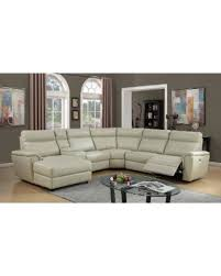 ivory leather reclining sofa deal alert lyke home bryce ivory leather gel power recliner sectional