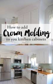 how to cut crown molding for kitchen cabinets coffee table how install under cabinet trim door molding add full