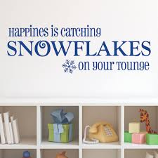 happiness is catching snowflakes wall quotes decal wallquotes com