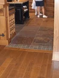 Kitchen Floor Design Ideas by Transition Between Hardwood And Tile Floor We Should Do This