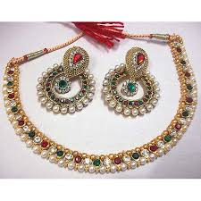 multi color necklace images Buy craftsvilla multi color pearl polki necklace set online jpg