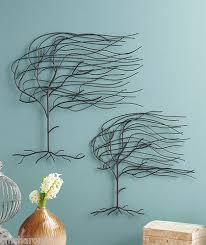 Willow Tree Home Decor Set Of 2 Whispering Willow Tree Metal Wall Art Hangings Blowing In