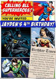 Superhero Invitation Card Superhero Custom Birthday Invitation Dc Comics Superman