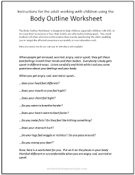 How To Make Worksheets Upset Body Worksheet To Help Kids With Asd