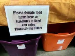 walmart store holding thanksgiving charity food drive for its