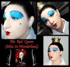 halloween make up red queen by luthy lothlorien on deviantart
