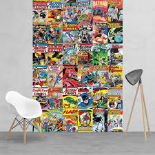 classic dc comic superhero collage batman robin superman wonder vintage classic dc comic superhero collage batman robin superman wonder woman feature wall wallpaper mural 158cm