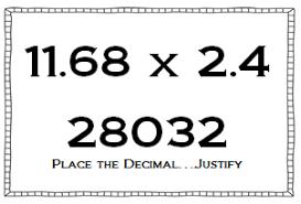 multiplying and dividing decimals using number sense math