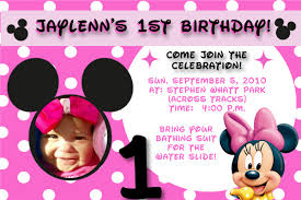 Create 1st Birthday Invitation Card For Free How To Create Minnie Mouse Birthday Iinvitations Invitations Ideas