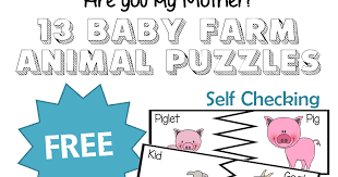 are you my mother 13 baby farm animal puzzles
