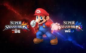 super smash bros wii u wallpapers super smash bros wii u 3ds logo wallpaper mario by xxdarkwolf1997