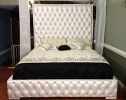 Black Tufted Bed Frame Black Velvet Tufted Headboard With Row Of Nailheads