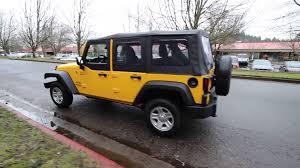 yellow jeep wrangler unlimited 2015 jeep wrangler unlimited sport baja yellow fl610104
