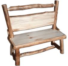 Rustic Log Benches - dining benches rustic log furniture of utah