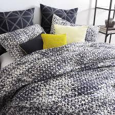 Dkny Duvet Cover White Amazon Com Dkny Gridlock Navy Blue White King Comforter Set
