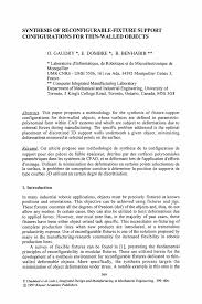 resume samples for design engineers mechanical synthesis of reconfigurable fixture support configurations for integrated design and manufacturing in mechanical engineering integrated design and manufacturing in mechanical engineering