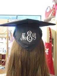 monogram graduation cap i got my graduation cap monogrammed nifty thrifty