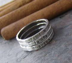 engraved stackable rings personalized stackable stacking rings sted sterling
