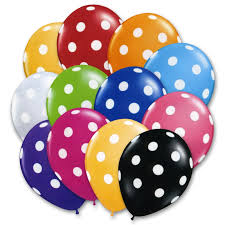 balloons delivered nyc ultimate polka dots assorted colors 12 inch balloons bouquet