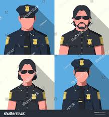 avatars police officers law enforcement illustration stock vector