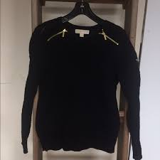 navy sweaters 60 michael kors sweaters michael kors navy black knit