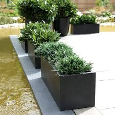 Black Planter Boxes by Outdoor Outdoor Patio With Black Rectangular Planter Box