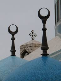 mosque and church behind religious monuments pinterest