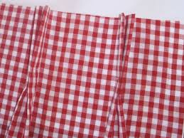 Pink Tartan Curtains And White Gingham Check Pinch Pleat Cafe Curtains