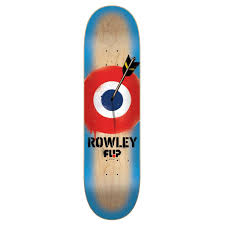 flip skateboards pro rowley arrow skateboard deck 8 25 inch