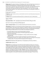 Wetland Resources Of Washington State by Appendix D Sustainability Performance Measure Examples A