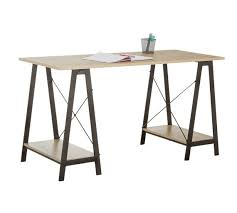 what is a trestle table buy home large trestle table desk desks and workstations argos