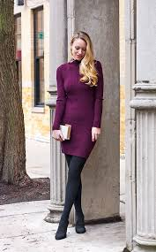 sweater dress and sweater dresses and fleece lined tights help keep me warm and