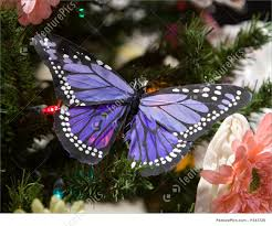 purple butterfly ornament picture