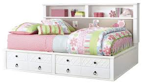 Zayley Full Bookcase Bed Bedroom Surprising Shore Summer Breeze Twin Bookcase Headboard