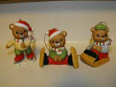 home interior bears 4 pc homco home interior figurines 5209 bears