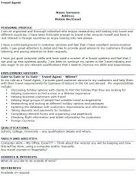 Interest And Hobbies For Resume Examples by Travel Agent Cv Example Icover Org Uk