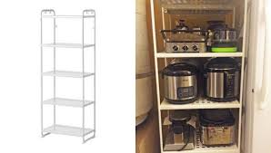 reliable appliance garage out of 2 mulig shelf units ikea
