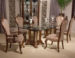 Michael Amini Dining Room Aico Platine De Royale Rectangular Glass Top Dining Set Lite