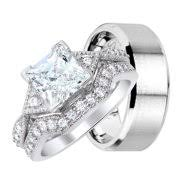 wedding band sets for him and wedding ring sets for him
