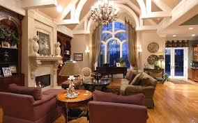 vintage interior design spacious living room modern fireplace
